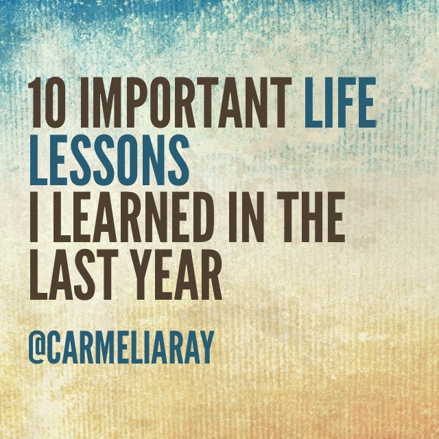 Most important lesson in life essay