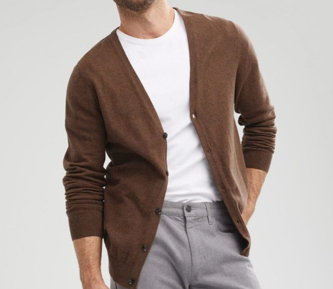 Top 10 Men's Fashion Trends for Winter 2021 - Neutral Cardigans